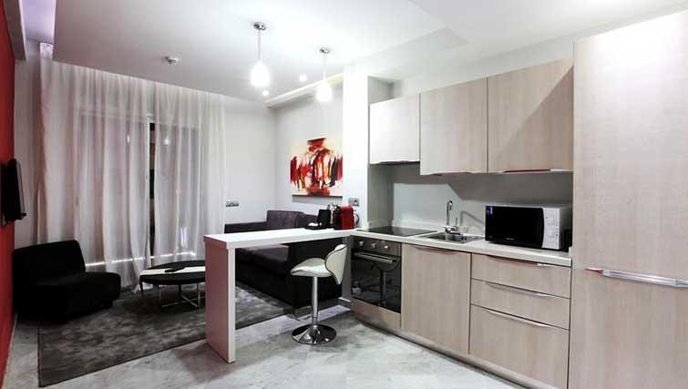 Kitchen at The Fourteen Apartments