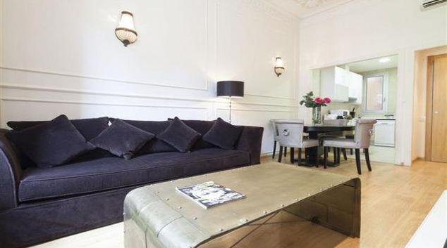 Living area at Pau Claris Apartments