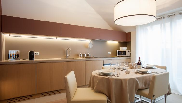 Kitchen at Guillaume Suites
