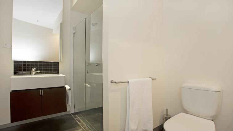 Ideal bathroom at Astra Apartments Melbourne CBD