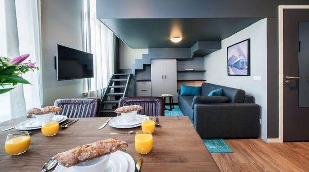 Living area at Yays Oostenburgergracht, Amsterdam