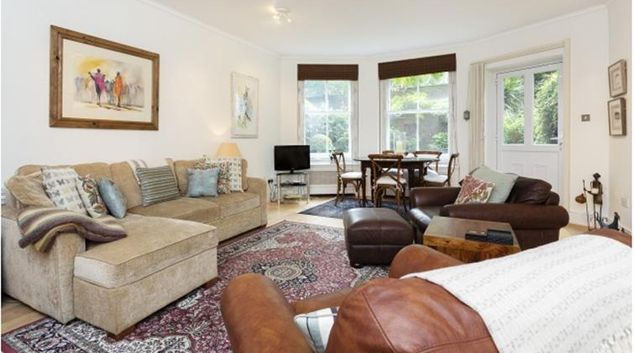 Living area at Earl's Court Apartment
