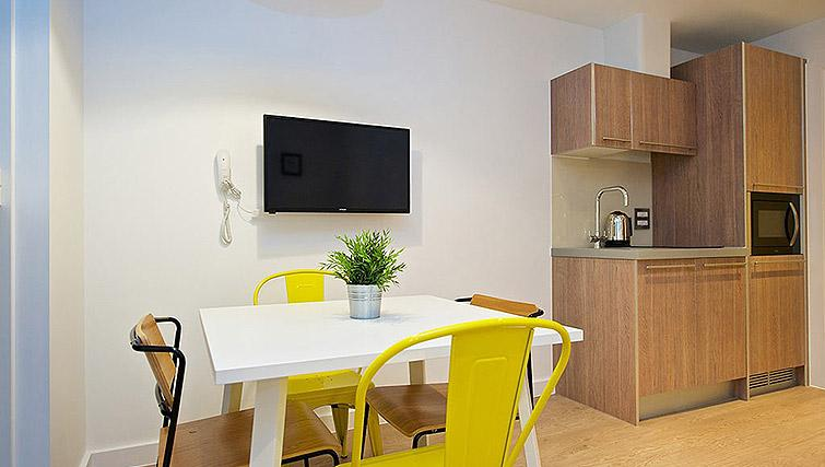 Dining table at Staycity Birmingham Newhall Square