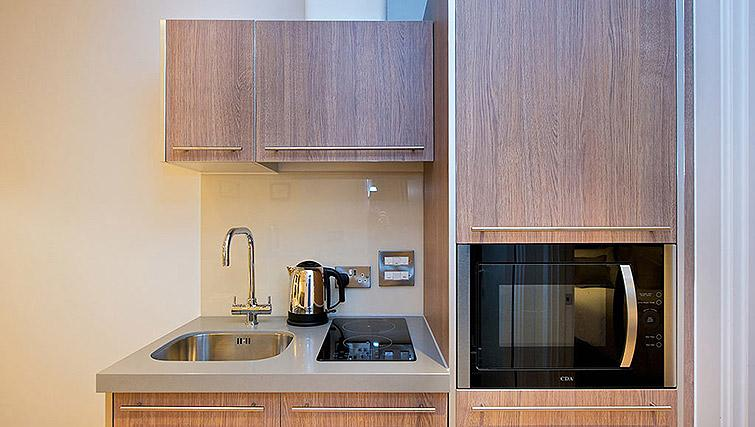 Well equipped kitchen at Staycity Birmingham Newhall Square