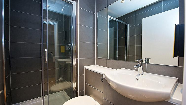 Shower room at Staycity Birmingham Newhall Square