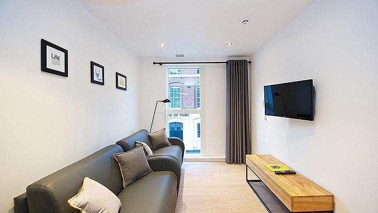 Cosy living room at Staycity Birmingham Newhall Square