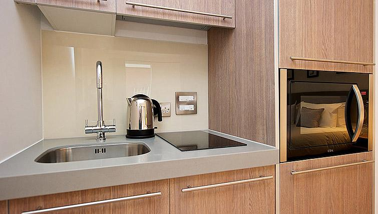 Kitchen facilities at Staycity Birmingham Newhall Square