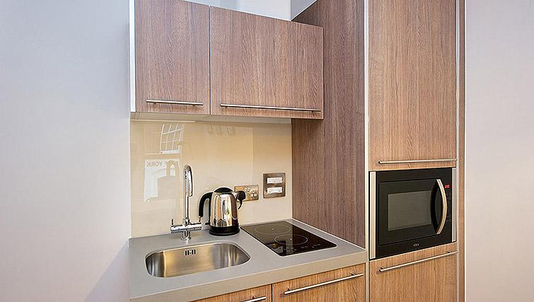 Kitchenette at Staycity Birmingham Newhall Square