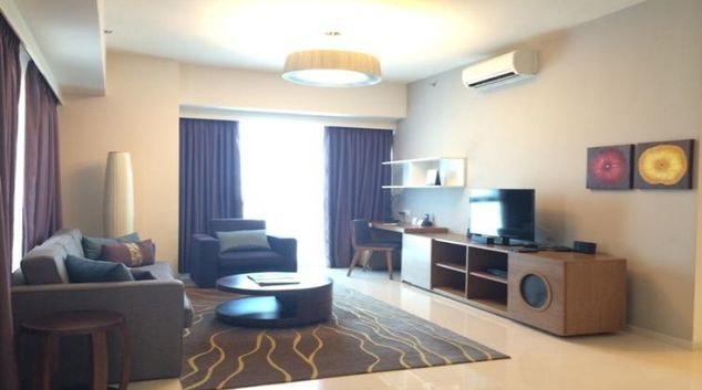 Stylish living area at Somerset Vista Apartments