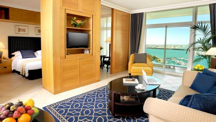 Living area at Beach Rotana All Suites