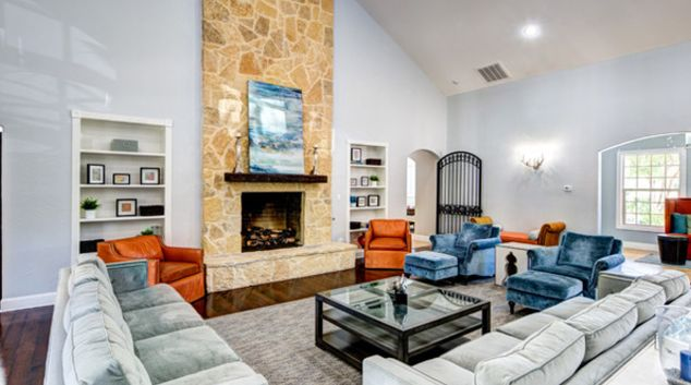 Living room at Marquis at Silver Oaks Apartments