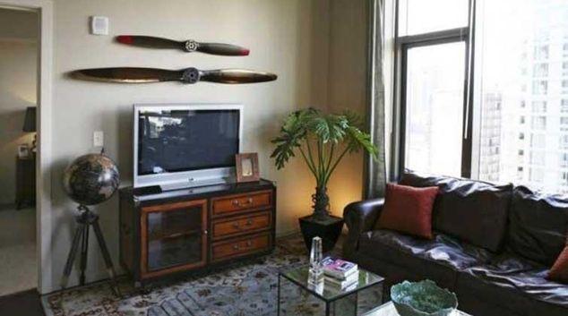 Living area at Via Apartments