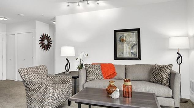 Living area at Dexter Lake Union Apartments
