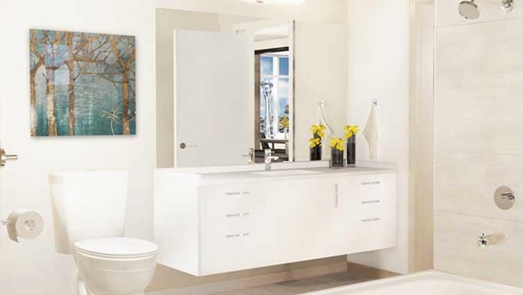 Bathroom at Dimension Apartments