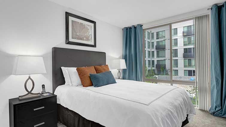 Bedroom at Dimension Apartments