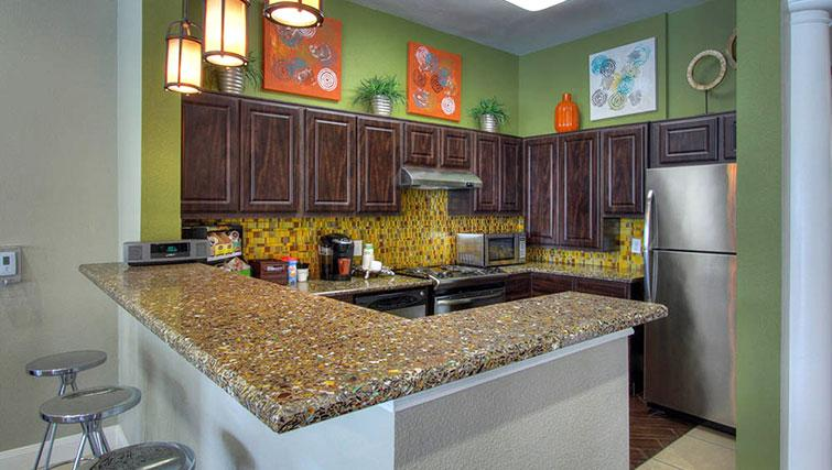 Kitchen at Marquis at Cinco Ranch Apartments