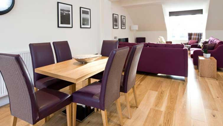 Dining area at Princes Street Residence