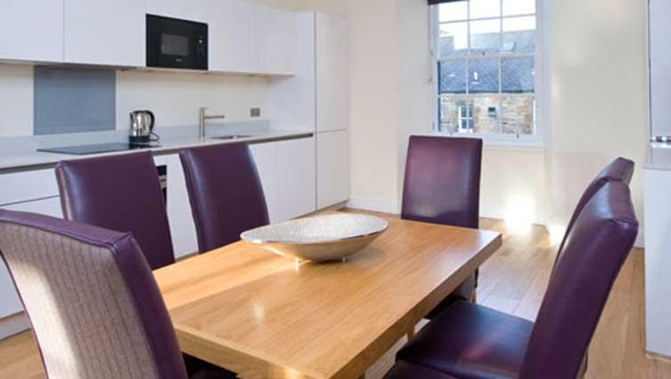 Dining table at Princes Street Residence
