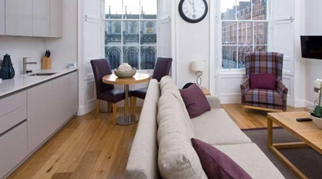 Living area at Princes Street Residence