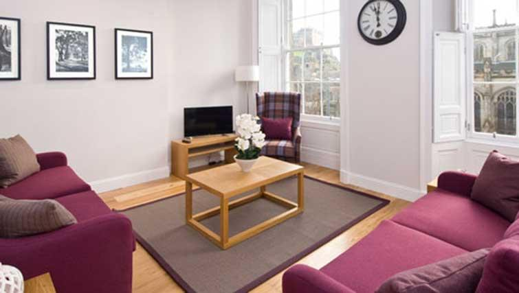 Living room at Princes Street Residence