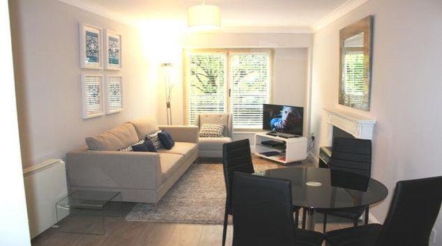 Living area at Herbert Park Apartment
