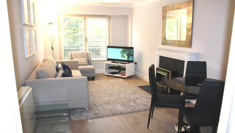 Bright living area at Herbert Park Apartment