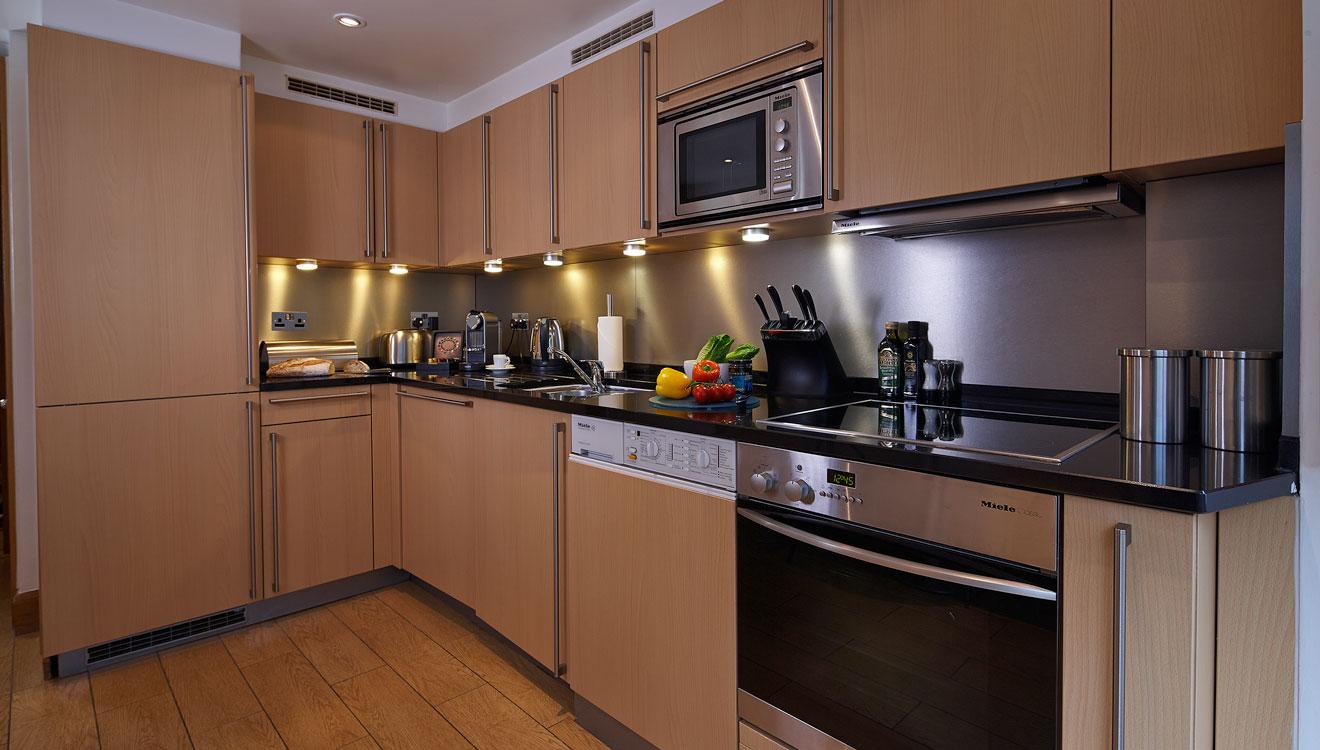 Modern kitchen at Cheval Knightsbridge - Montpelier Mews Apartments