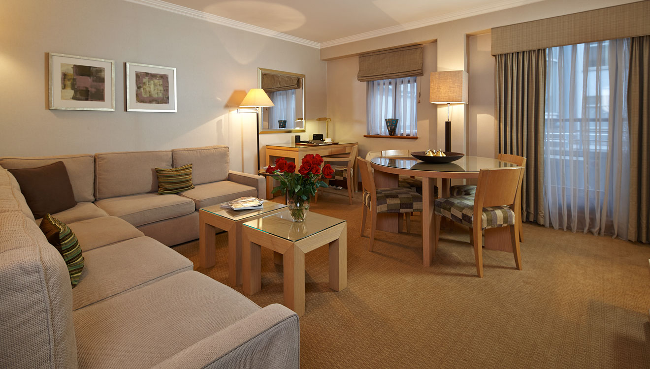 Living/dining area at Cheval Knightsbridge - Montpelier Mews Apartments