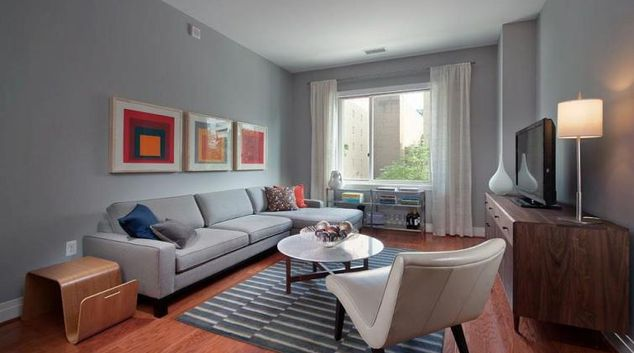 Living area at Residences On The Avenue
