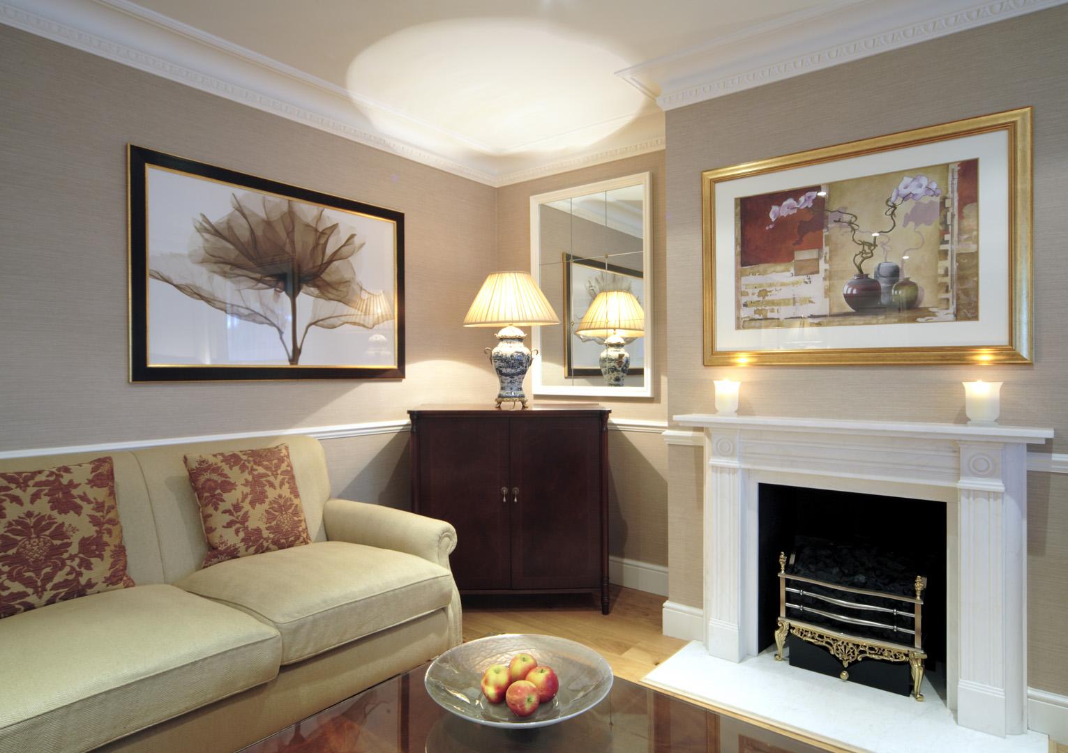Living area at 148 Cheval Brompton Road, Knightsbridge, London
