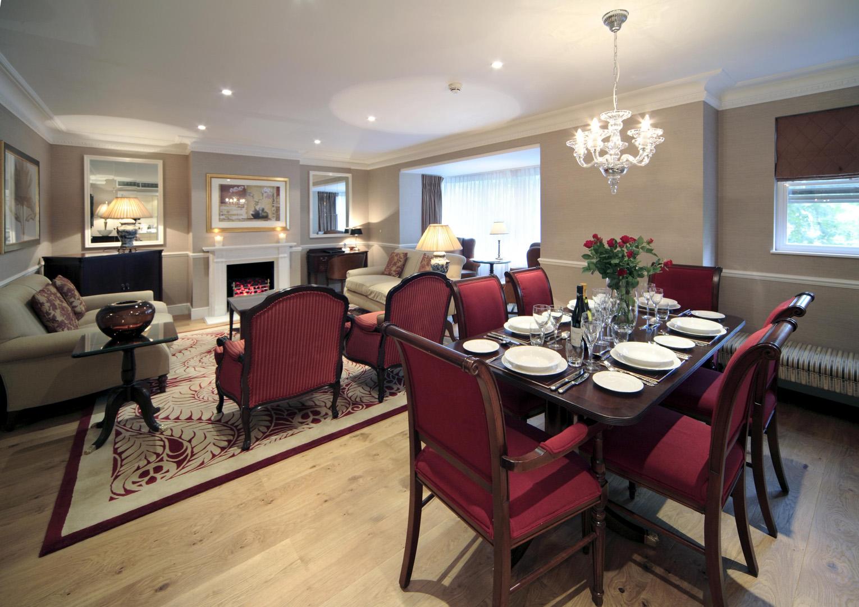 Dining area at 148 Cheval Brompton Road, Knightsbridge, London