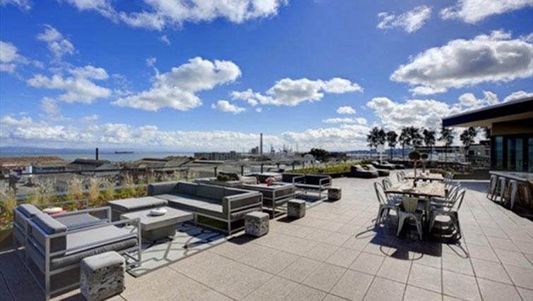 Rooftop area at Potrero Launch Apartment
