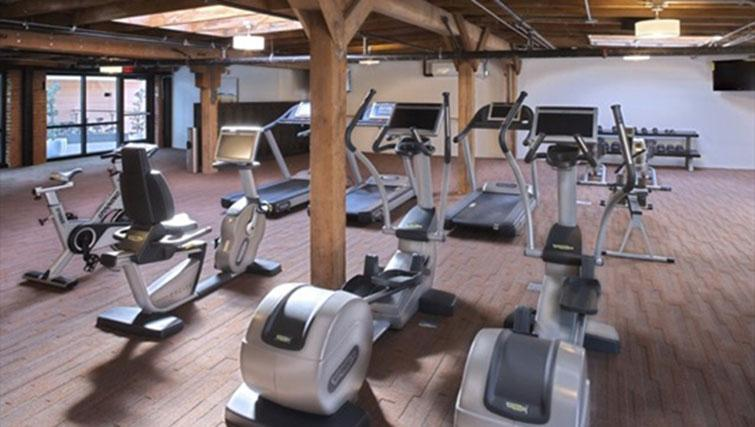 Fitness centre at Potrero Launch Apartment
