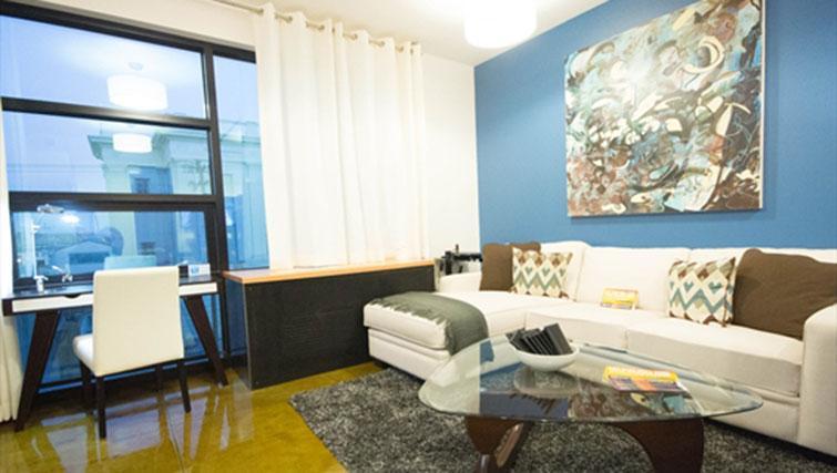 Living area at Potrero Launch Apartment