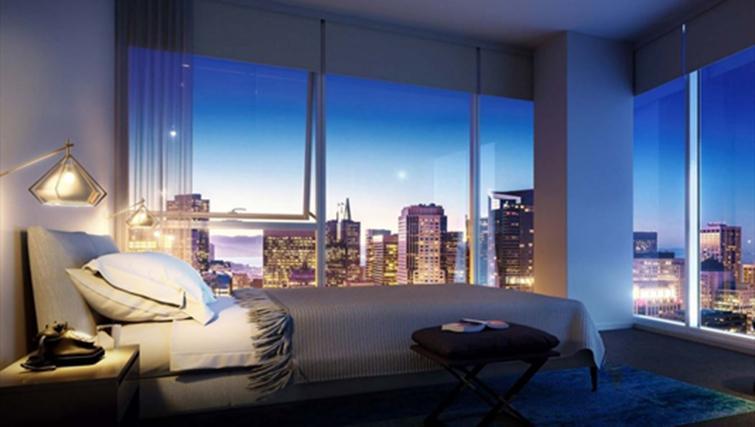 Bedroom at Jasper Apartments