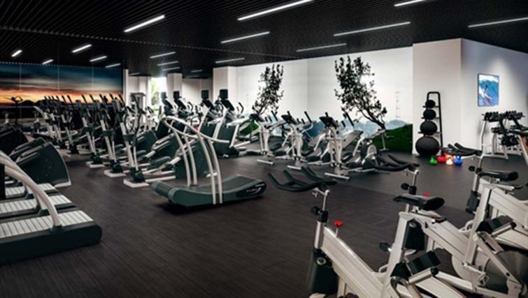 Gym at Jasper Apartments