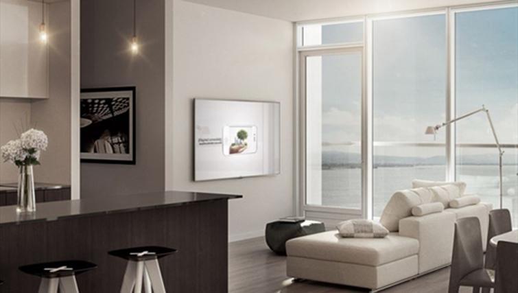 Living area at Jasper Apartments