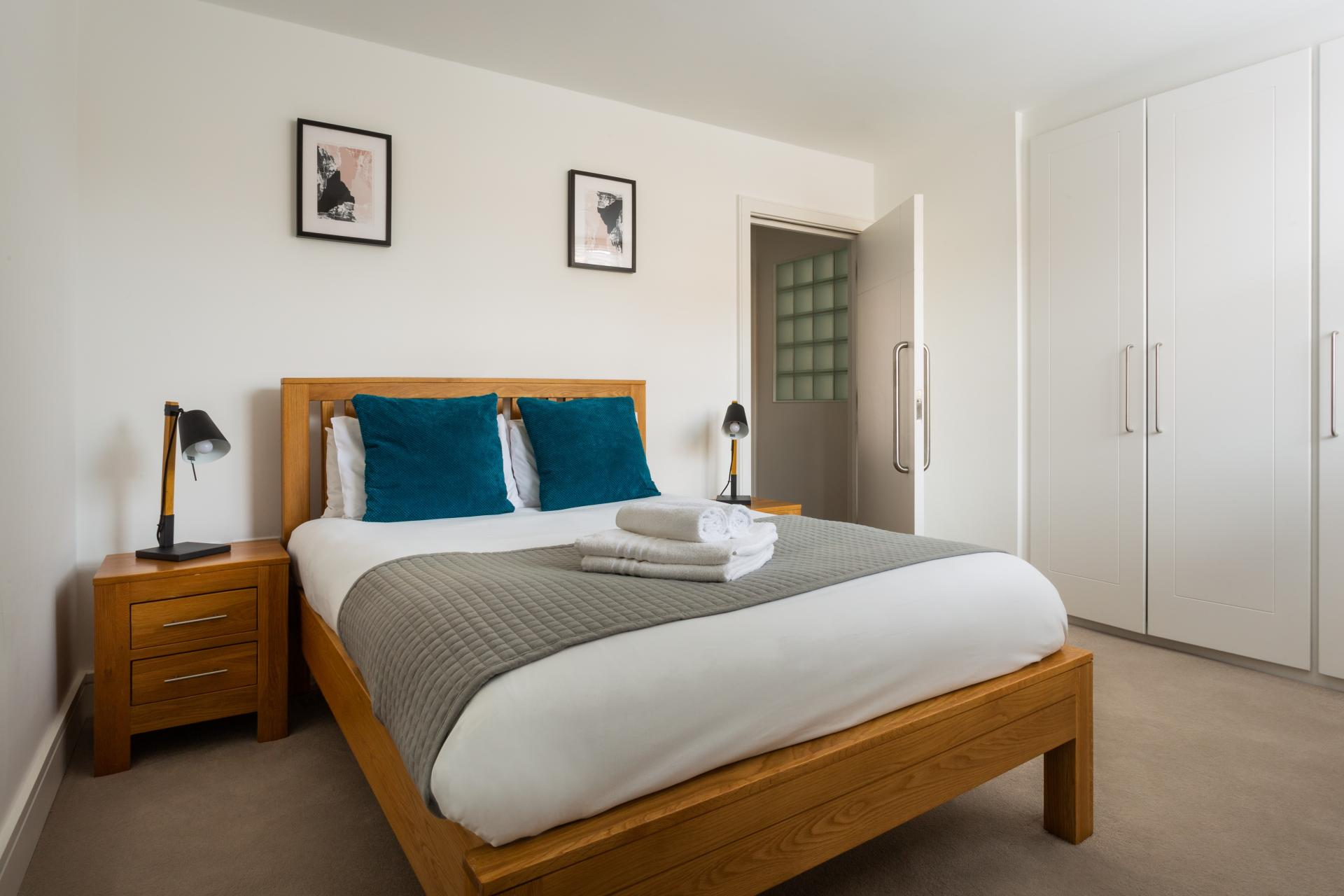 Bedroom at Flying Butler Vincent Square Apartments, Victoria, London