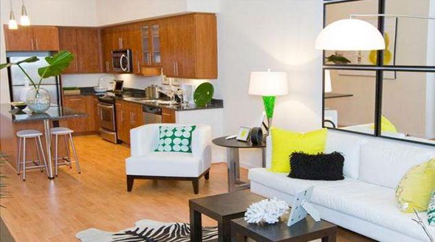 Living area at Willard Apartments