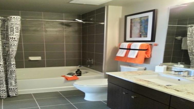 Bathroom at Gallery Bethesda Apartments