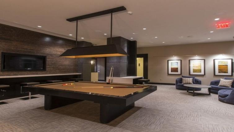 Games room at Gallery Bethesda Apartments