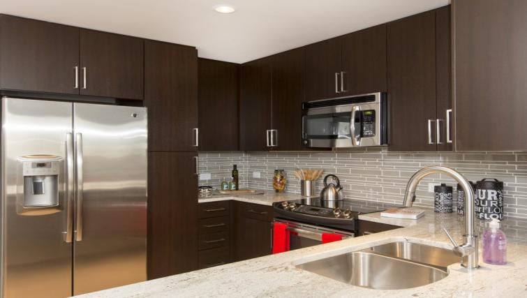 Kitchen at Gallery Bethesda Apartments