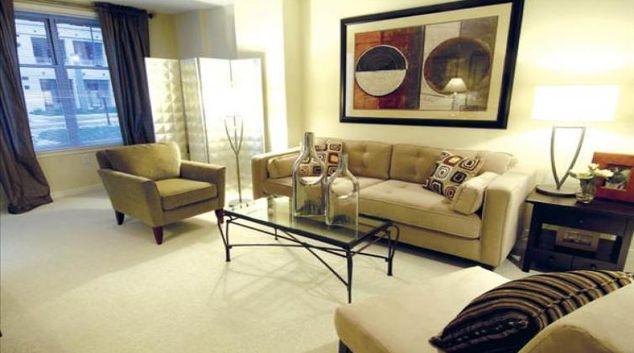 Living area at 2400 M Apartment