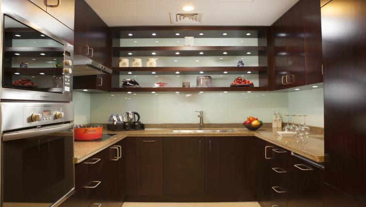 Kitchen at City Centre Rotana Apartments