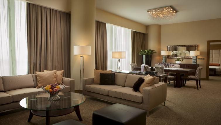 Living area at City Centre Rotana Apartments