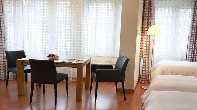 Living area at Basel Congress Apartments