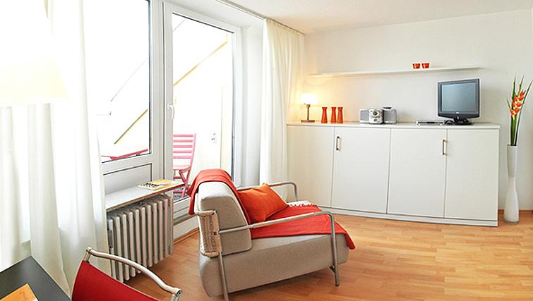 Exciting living area in Frederics Smart Hohenzollernplatz Apartments