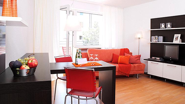 Bright living area at Frederics Smart Hohenzollernplatz Apartments