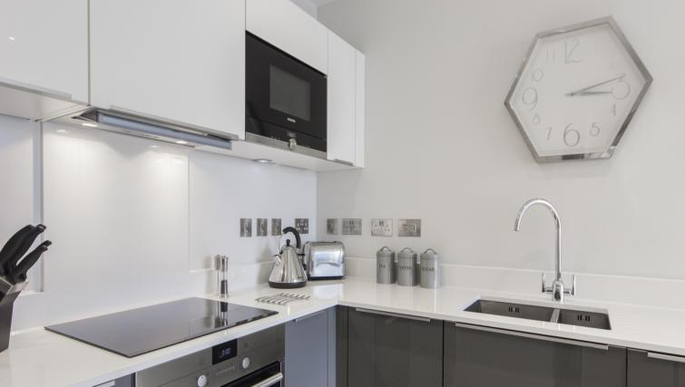 Kitchen facilities at the Vesta Apartments