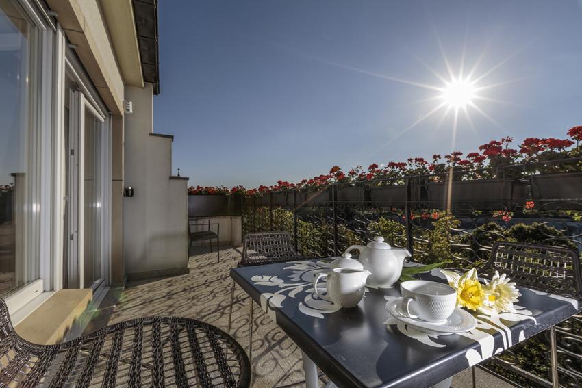 Balcony at Villa Vinicia Apartments